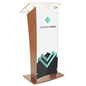 Customized Public Speaking Lectern, Fully Assembled