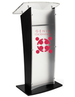 UV printed frosted replacement panel for CVWD series lecterns with opaque finish
