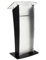 Frosted replacement panel for CVWD series lecterns with opaque smudge reducing finish