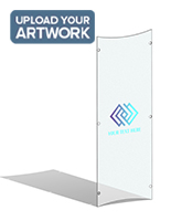 Full color UV printed frosted replacement panel for CVWD series lecterns