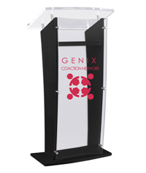 "48.75"" Tall Customized Public Speaking Stand"