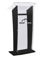 Black Printed Public Speaking Stand