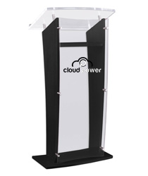 Printed Public Speaking Stand with Book Lip Stop