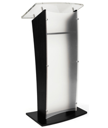 "Unique ""H"" Shape Frosted Acrylic Public Speaking Stand"