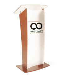 "48.75"" Tall Customized Acrylic Rostrum"