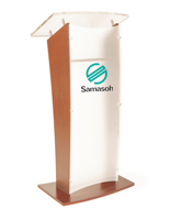 "48.75"" High 2-Color Customized Public Speaking Lectern"