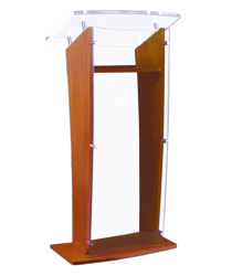 "49.75"" Tall Maple Wood Public Speaking Stand"