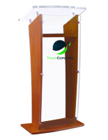 2-Color Custom Printed Rostrum Podium
