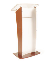 "48.75"" Tall Wood Rostrum Podium"