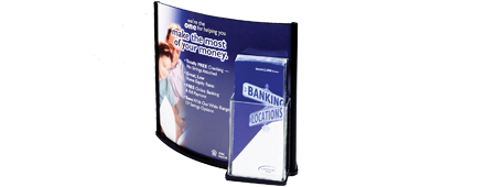 13 x 11 Acrylic Sign Holder w/ Pocket for 4 x 9 Brochures
