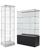 Display case towers for spas and salons