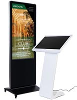 Floorstanding digital signs for spas and salons