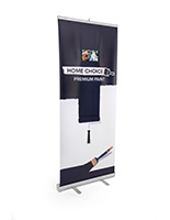 Custom banner stand with digital screen