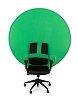 Green Screen on Back of Chair