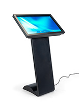 Digital floor standing sign with touch screen