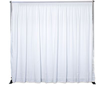 Backdrop Drapery with Curtains