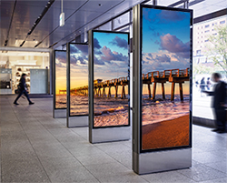 LED Posters with Daisy Chain Technology Showing Pier