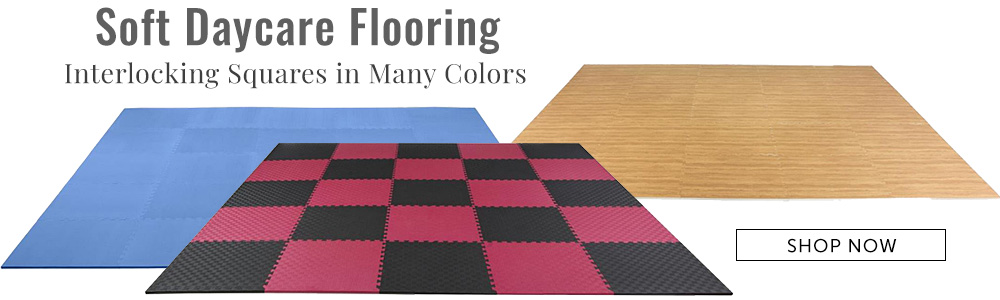 Soft interlocking floor tiles