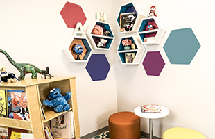 Wall Mounted Daycare Shelving