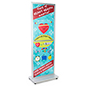 Top loading fixed-width 2-sided portable poster stand