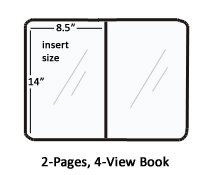 Menu Folder with Tri-Fold Design for Displaying (6) 8-1/2