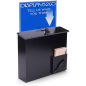 Black Donation Box with Sign Holder and Comment Card Pocket