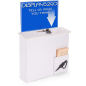 White Donation Box with Sign Holder, Suggestion Card & Pen Holder