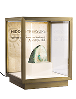 16.5-inch wide x 21.25-inch high tabletop display vitrine