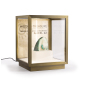 16.5w x 21.25h bronze tabletop display vitrine