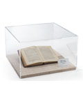 Presentation-Quality Tabletop Display Case with Antique Book Under Enclosure