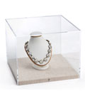 Gallery-Style Tabletop Display Box Propped with Necklace