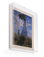 "Hanging 16"" x 20"" Linen Backed Exhibit Wall Frame"