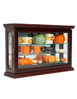 34 x 22 mahogany curio china display cabinet