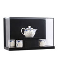 Museum Style Wall Mount Shadow Box with Chinaware Inside