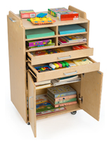 Wooden Craft Supply Organizer