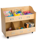 Rolling Kid's Book Cart