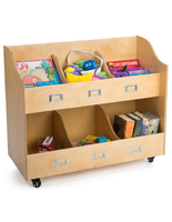 Mobile Kid's Book Cart