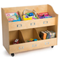 Multi-Compartment Kid's Book Cart
