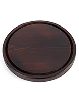 Glass dome wood bases have a 9.64 inch diameter