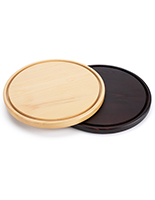 Glass dome wood bases available in three size options