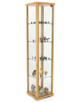 15.75-inch wide hornbeam glass curio cabinet tower display