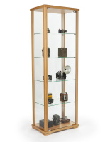23.5-inch wide hornbeam glass curio cabinet display