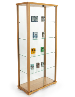 31.5-inch wide hornbeam 69-inch tall glass display cabinet