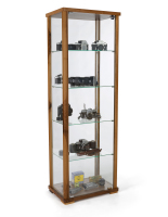 23.5-inch wide full glass narrow display case in walnut finish