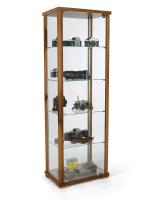 23.5-inch wide full glass narrow display case in walnut finish