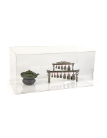 33w x 15h x 15d clear collapsible acrylic display box