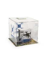 15-inch wide by 15-inch high by 15-inch deep clear custom printed folding acrylic display cube