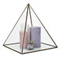 Large pyramid display box with five clear glass panels