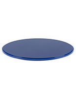 "12"" blue display base for DCR round cases with grooved edge"