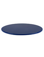 "Blue 16"" round display case base for DCR series made of durable acrylic"